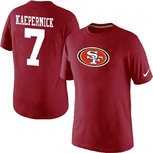 34c700a97 Nike San Francisco 49ers  7 Kaepernick Name   Number NFL T-Shirt Red
