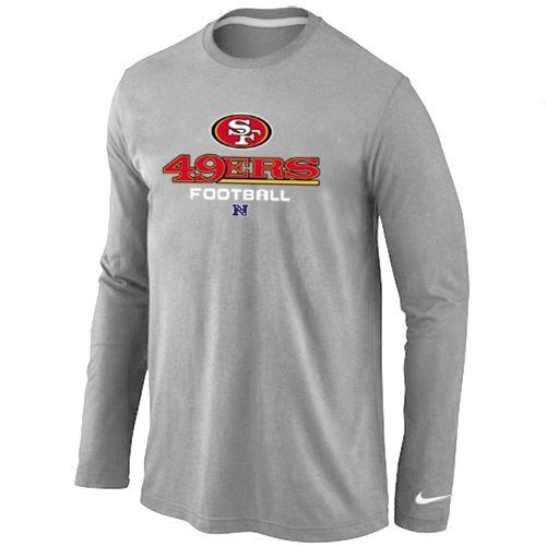 60c51213c7f Nike San Francisco 49ers Critical Victory Long Sleeve T-Shirt Grey