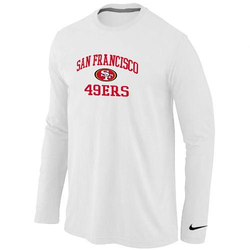 Cheap Nike San Francisco 49ers Heart & Soul Long Sleeve T Shirt White