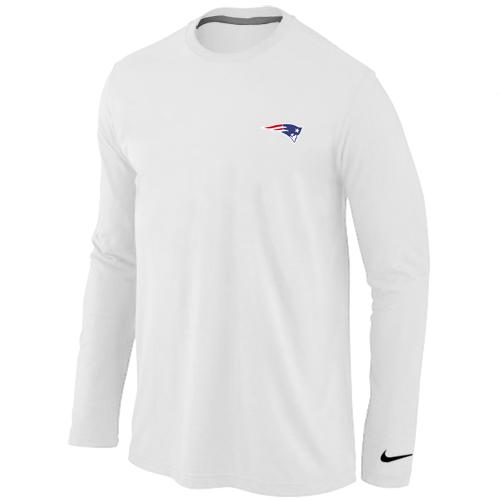3e9c0faaf Nike New England Patriots Sideline Legend Authentic Logo Long Sleeve T-Shirt  White