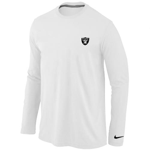 801567e12 Nike Oakland Raiders Sideline Legend Authentic Logo Long Sleeve T-Shirt  White