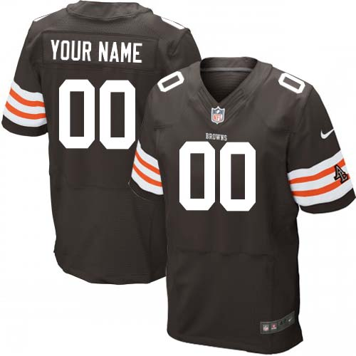 new product 711bb 553a5 Nike Cleveland Browns Customized Browns/White Men's Stitched ...