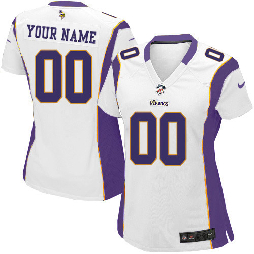 Nike Minnesota Vikings Customized White Embroidered Elite Women s NFL Jersey 98e807d5a