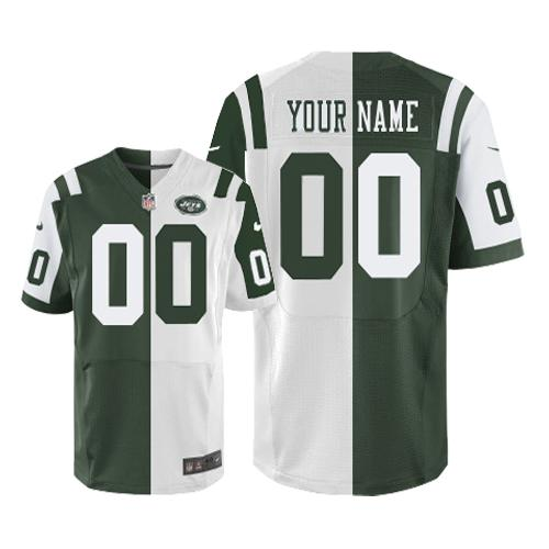 nike new york jets customized green white men s stitched elite split rh cheapjerseysonline co NFL AFC North The New York Jets NFL Team Logo