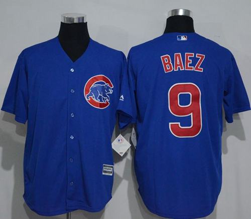 finest selection 346de 358b6 Cubs #9 Javier Baez Blue New Cool Base Stitched Baseball Jersey