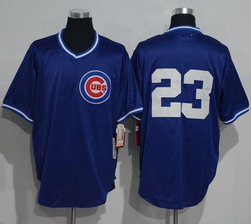 half off 4236d 6fcda Mitchell And Ness 1984 BP Cubs #23 Ryne Sandberg Blue ...