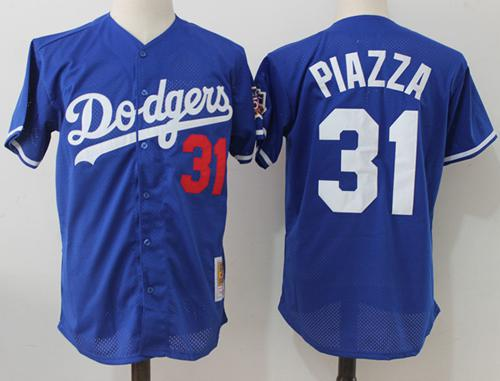 big sale 78b6e ad7c3 Mitchell And Ness 1997 Dodgers #31 Mike Piazza Blue ...