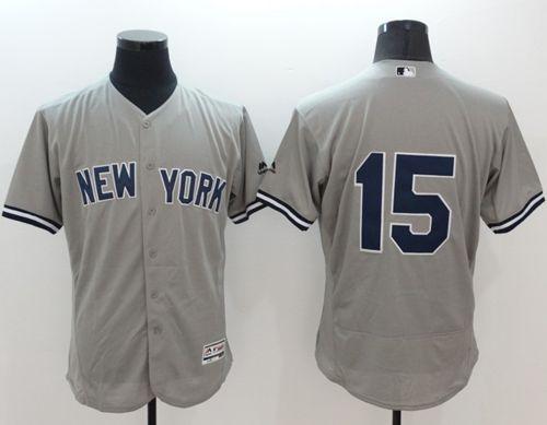 best service 6f2c7 9a955 Yankees #15 Thurman Munson Grey Flexbase Authentic ...