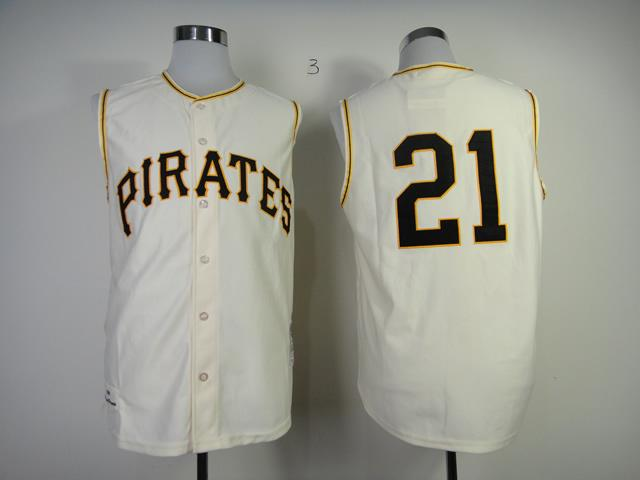 newest f9948 67131 Mitchell And Ness 1960 Pirates #21 Roberto Clemente Cream ...