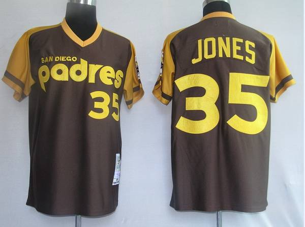 quality design 93712 fb284 Mitchell and Ness Padres #35 Randy Jones Coffee Stitched ...