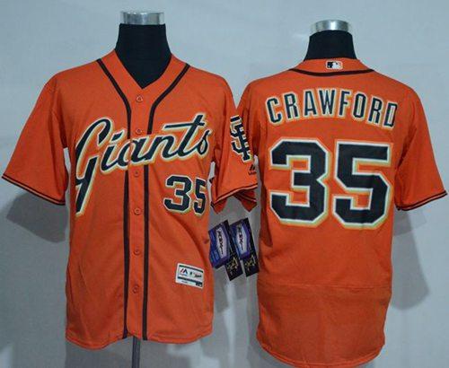 huge discount dc6f3 06bb2 Giants #35 Brandon Crawford Orange Flexbase Authentic ...