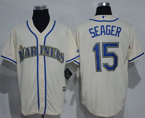 ebc7849f5 Mariners #15 Kyle Seager Cream New Cool Base Stitched Baseball Jersey