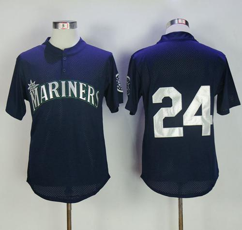 newest efd69 a9c7b Mitchell And Ness 1995 Mariners #24 Ken Griffey Navy Blue ...
