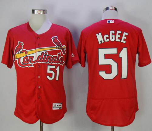 new style 222c9 e659a Cardinals #51 Willie McGee Red Flexbase Authentic Collection ...