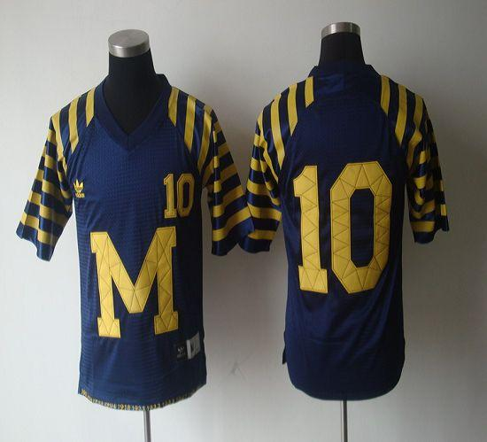 new style d5ddf 8e659 Wolverines #10 Tom Brady Blue Under The Lights Stitched NCAA ...