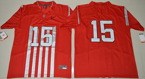 3f5ded421e6  49.00  20.00  Buckeyes  15 Ezekiel Elliott Red 1917 Throwback Limited  Stitched NCAA Jersey