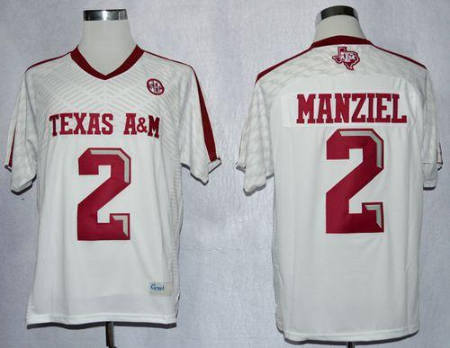 buy popular f25af 06012 Aggies #2 Johnny Manziel White New SEC Patch Stitched NCAA ...