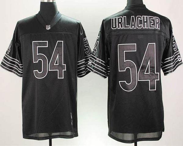 promo code a9a6d 8ccf3 Bears #54 Brian Urlacher Black Shadow Stitched NFL Jersey