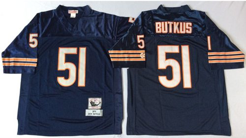 finest selection 02f20 2e75f Mitchell&Ness Bears #51 Dick Butkus Blue Small No. Throwback ...