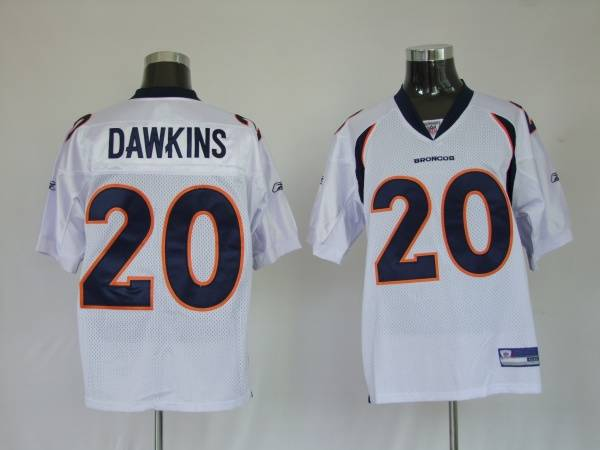 new style c26e0 49694 Broncos #20 Brian Dawkins White Stitched NFL Jersey