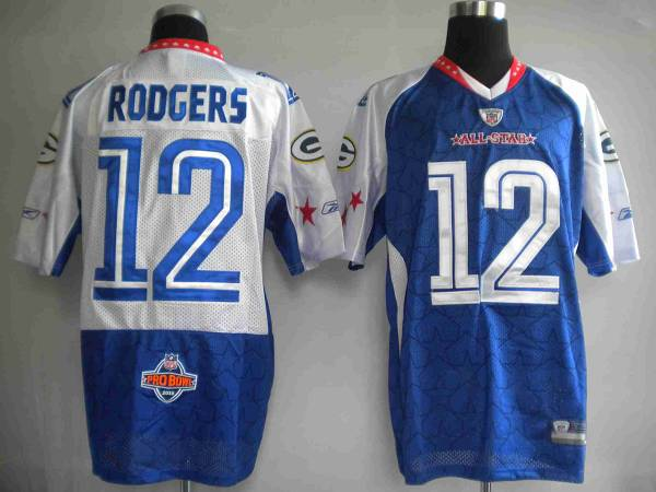 Packers  12 Aaron Rodgers Blue 2010 Pro Bowl Stitched NFL Jersey b4510b96c