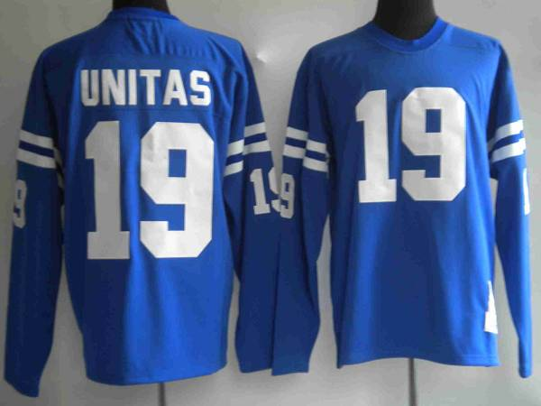 New Mitchel & Ness Colts #19 Johnny Unitas Blue Stitched Throwback NFL  supplier