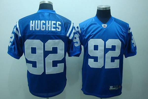 innovative design 198cc 50aab Colts #92 Jerry Hughes Blue Stitched NFL Jersey