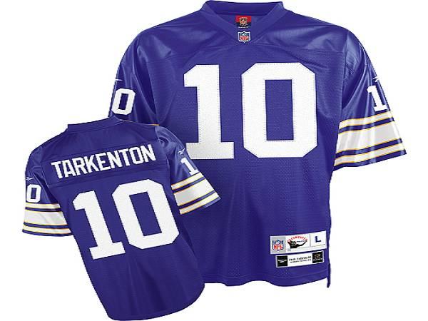 Mitchell&Ness Vikings #10 Fran Tarkenton Purple Stitched Throwback  hot sale