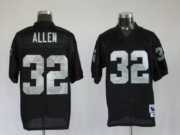 info for 867a2 2297f Mitchell and Ness Raiders Marcus Allen #32 Stitched Black ...