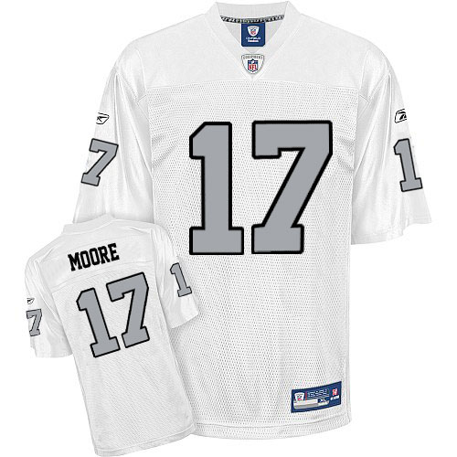 Jersey White Moore 17 No Denarius Grey Stitched Silver Raiders Nfl