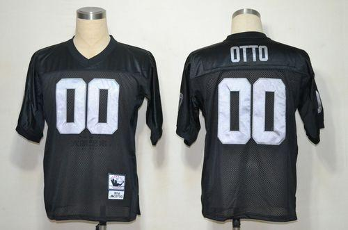 Hot Mitchell And Ness Raiders #0 Jim Otto Black Stitched Throwback NFL  for cheap