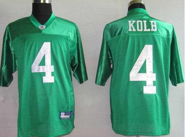 the best attitude 04b05 4ade8 Eagles Kevin Kolb #4 Stitched 1960 Throwback Green NFL Jersey