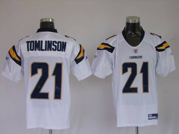 premium selection 4548b ed2a8 Chargers LaDainian Tomlinson #21 Stitched White NFL Jersey
