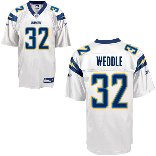 new products a55a4 914a3 Chargers #32 Eric Weddle White Stitched NFL Jersey
