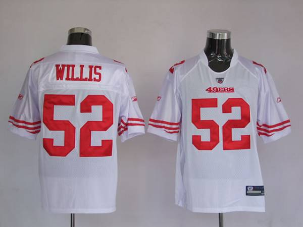 big sale bbcb3 6f454 49ers #52 Patrick Willis Stitched White NFL Jersey