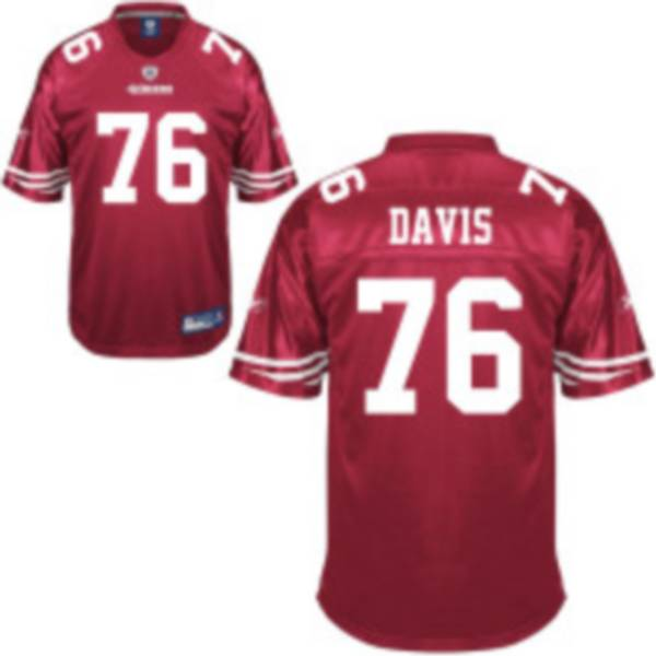 Discount 49ers #76 Anthony Davis Red Stitched NFL Jersey  free shipping