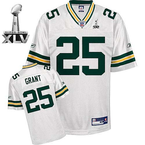 6f692d000 Packers  25 Ryan Grant White Super Bowl XLV Embroidered NFL Jersey