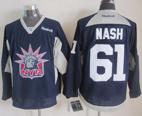 fc9a9dc41 Rangers  61 Rick Nash Navy Blue Statue of Liberty Practice Stitched NHL  Jersey