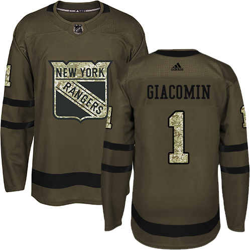 Adidas Rangers  1 Eddie Giacomin Green Salute to Service Stitched NHL Jersey e6a282a4d