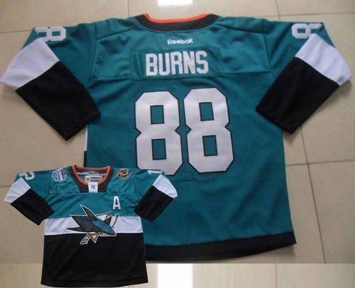 best service 305a4 4bf25 Sharks #88 Brent Burns Teal/Black 2015 Stadium Series ...