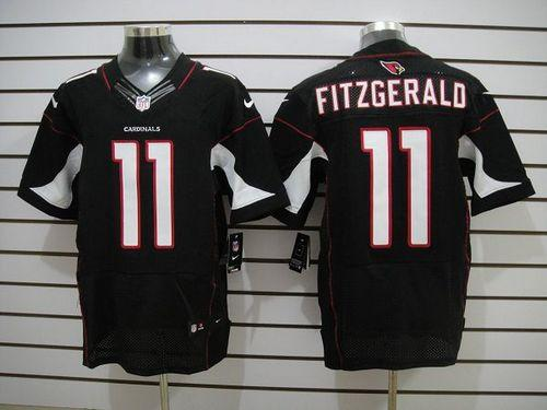 Nike Cardinals  11 Larry Fitzgerald Black Alternate Men s Embroidered NFL  Elite Jersey 283dbd74d