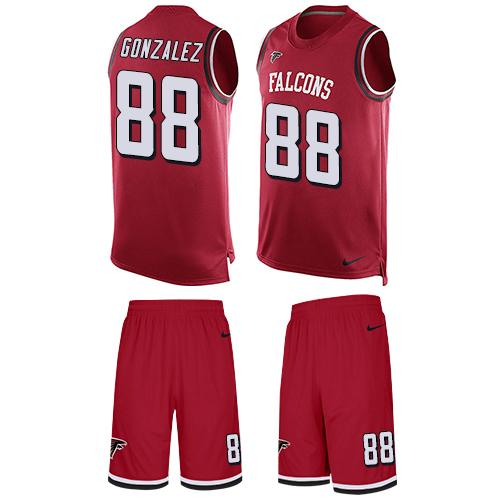 Nike Falcons #88 Tony Gonzalez Red Team Color Men's Stitched NFL  for sale