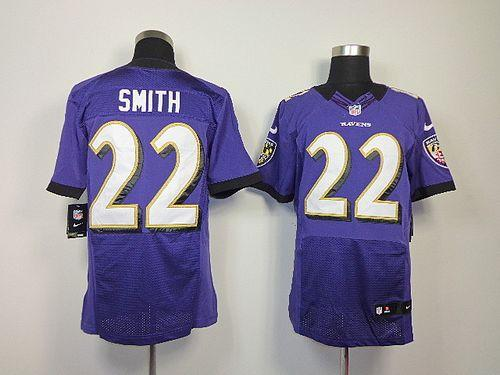 a0b173932c8 Nike Ravens  22 Jimmy Smith Purple Team Color Men s Embroidered NFL Elite  Jersey
