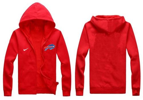 online store ad620 ad6d7 Nike Buffalo Bills Authentic Logo Hoodie Red