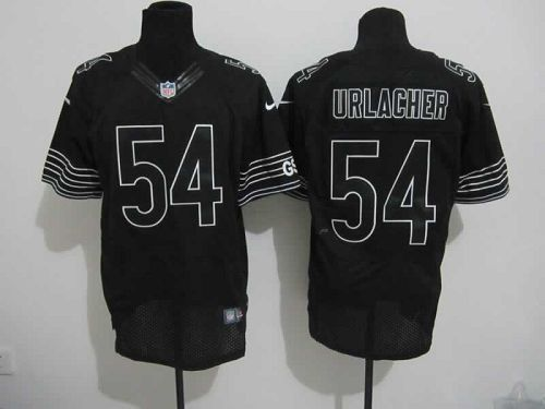 competitive price efcb0 fbd6a Nike Bears #54 Brian Urlacher Black Shadow Men's Embroidered ...