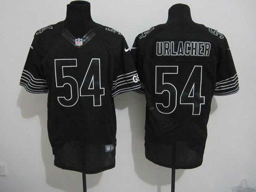 1a74de1175d Nike Bears #54 Brian Urlacher Black Shadow Men's Embroidered NFL Elite  Jersey