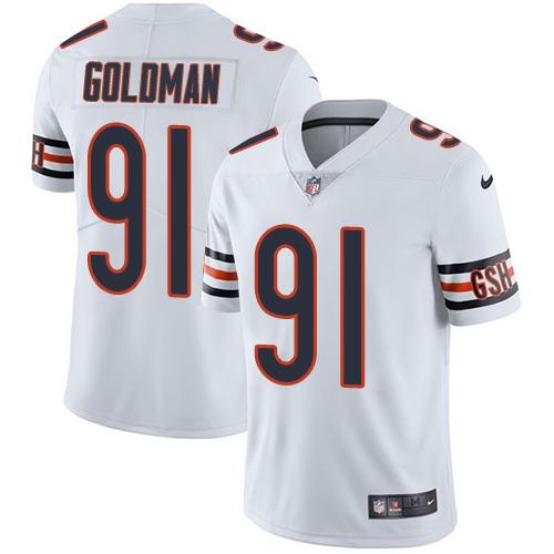 f343b4d0351 Nike Bears  91 Eddie Goldman White Men s Stitched NFL Vapor Untouchable  Limited Jersey
