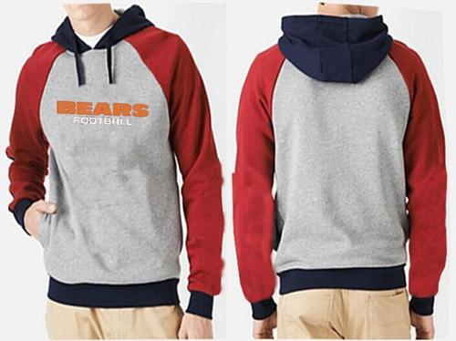 Nice Chicago Bears English Version Pullover Hoodie Grey & Red