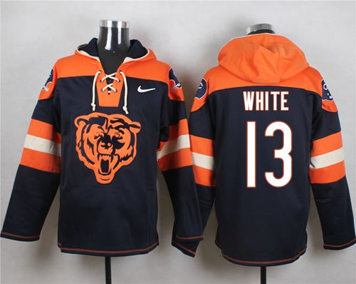 Nice Nike Bears #13 Kevin White Navy Blue Player Pullover NFL Hoodie  hot sale