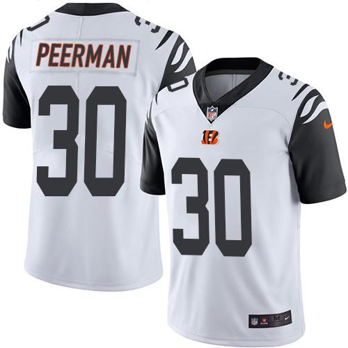 Top Nike Bengals #30 Cedric Peerman White Men's Stitched NFL Limited  for sale
